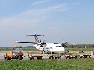 Leipzig–Altenburg Airport - A Contact Air ATR 72 at Leipzig–Altenburg Airport