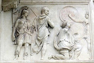 Arcus Novus - Image: Controfacciata di villa medici, rilievi romani 05, da arcus novus 2