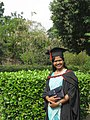 Convocation dress of University of Dhaka with hood, gown and cap.JPG