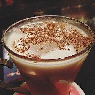 Coquito Puerto Rican rum and coconut milk cocktail
