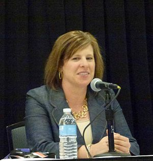 UCLA Bruins women's basketball - Cori Close, head coach of the UCLA women's basketball team, speaking at a WBCA conference in Nashville, Tennessee.
