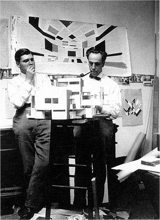 Cornelis van Eesteren - Cornelis van Eesteren (left) with Theo van Doesburg in Paris, 1923