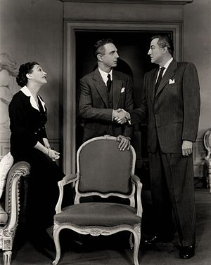 The Constant Wife - Katharine Cornell, Robert Flemyng and John Emery in The Constant Wife (1953)