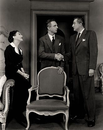 John Emery (actor) - Katharine Cornell, Robert Flemyng and John Emery in a revival of W. Somerset Maugham's The Constant Wife (1953)