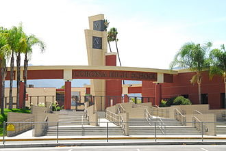 Corona High School - Image: Corona High School Main
