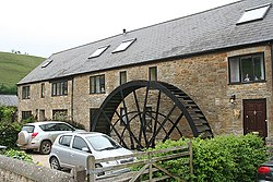 Corton Denham - waterwheel at Whitcombe Farm - geograph.org.uk - 425885.jpg
