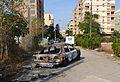 Cotxe cremat al camí de les Fonts de Benimaclet.JPG