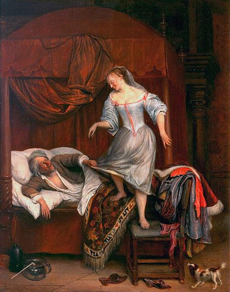 Файл: Пара в спальне, автор Jan Steen.jpg