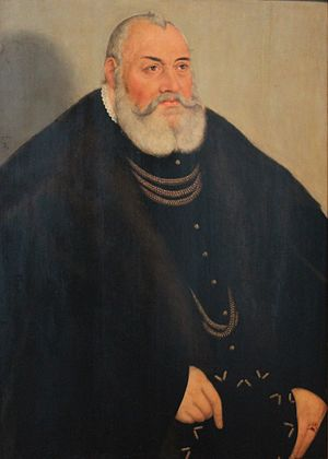 George, Margrave of Brandenburg-Ansbach - George the Pious, Margrave of Brandenburg-Ansbach by Lucas Cranach the Younger