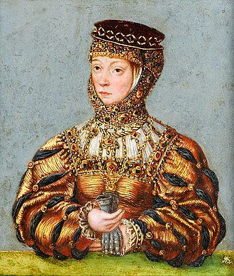 Barbara Radziwiłł - Portrait of Barbara Radziwiłł by Lucas Cranach the Younger (ca. 1553)