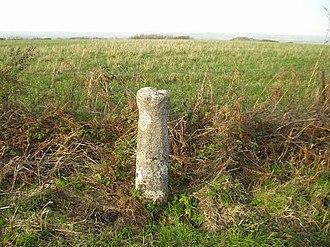 "Batcombe, Dorset - The ""Cross in Hand"" on Batcombe Down"