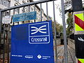 Crossrail sign at the Southhampton Row entry to the Kingsway tram subway November 2015.jpg