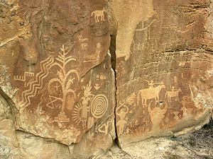 Crow Canyon Archaeological District - Rock art at Crow Canyon