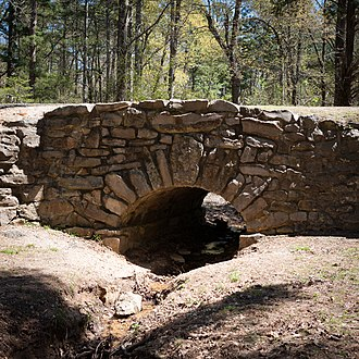 National Register of Historic Places listings in Greene County, Arkansas - Image: Crowley's Ridge State Park Bridge