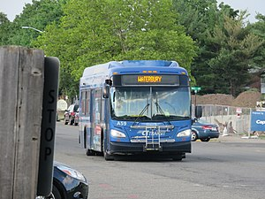 Northeast Transportation Company - CTtransit New Flyer XDE35 A59 at Meriden Green