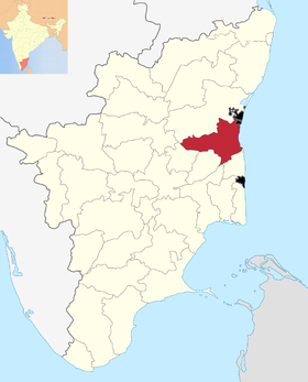 Localisation de District de Cuddalore