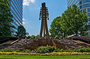 Cumberland, Georgia - A monument in the Cobb Galleria office park