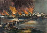 Currier and Ives - The Fall of Richmond, Va. on the Night of April 2d. 1865 (cropped).jpg