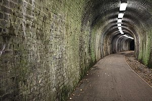 Penicuik Railway - Cycle path tunnel near Auchendinny