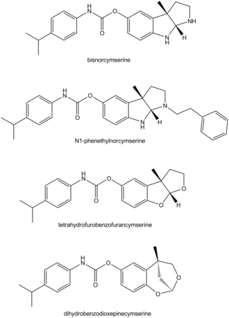 Cymserine - Derivatives of cymserine