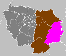 Location of Provins in Île-de-France