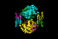 DAHP synthase cartoon quartenary structure.png