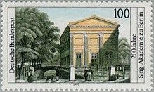 Sonderbriefmarke der Deutschen Bundespost zum 200-jährigen Bestehen der Sing-Akademie (Quelle: Wikimedia)