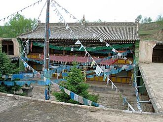 14th Dalai Lama - House where the 14th Dalai Lama was born in Taktser, Amdo