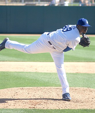 Guillermo Mota - Mota with the Los Angeles Dodgers