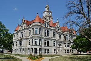Adel Public Square Historic District - The Dallas County Courthouse is a contributing building