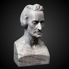 Bust of Daniel-Alexandre Chavannes by Auguste Clésinger