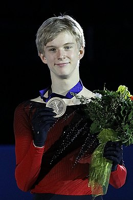 Daniel Grassl at the Junior World Championships 2019 - Awarding ceremony.jpg