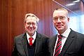 Danmarks kulturminister Per Stig Moeller och Finlands kulturminister Stefan Wallin. Nordiska radets session 2010.jpg