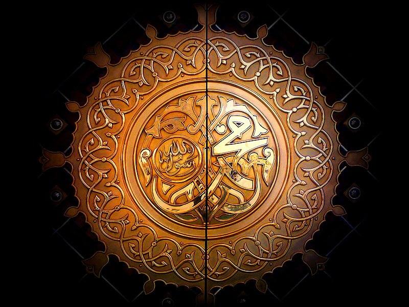 Dark vignette Al-Masjid AL-Nabawi Door800x600x300