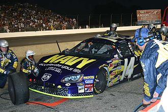 David Stremme - Stremme pits the No. 14 Dodge during the 2005 Kroger 200.
