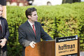 David Hoffman announcing his campaign for the US Senate, Springfield, Illinois - 20090910.jpg