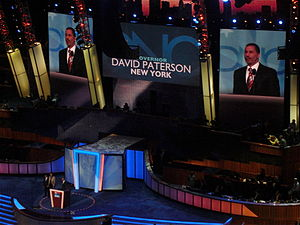 David Paterson - Paterson speaks during the 2008 Democratic National Convention.
