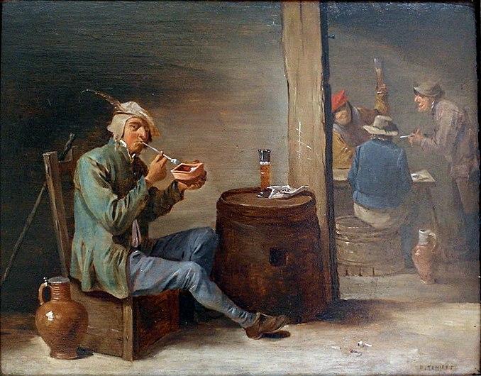 David Teniers le Jeune, Le Fumeur (17e siècle), Grand Curtius, Liège.JPG