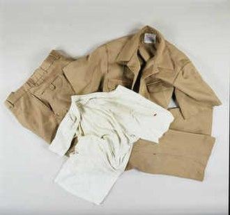 David M. Thomas Jr. - The fire-damaged uniform Thomas was wearing on 9-11.