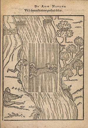 Everard Digby (scholar) - Illustration from De arte natandi