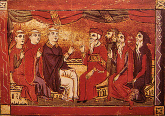 Dioceses of the Church of the East to 1318 - Syrian, Armenian and Latin bishops debate Christian doctrine in the Crusader city of Acre, late 13th century