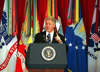Bill Clinton, 42nd President of the United States (1993-2001), at The Pentagon in 1998 Defense.gov News Photo 980217-D-9880W-016.jpg