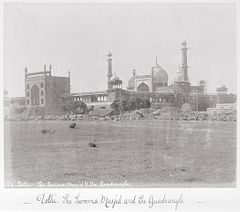 Delhi, The Summa Musjid and the Quadrangle LACMA M.90.24.15.jpg