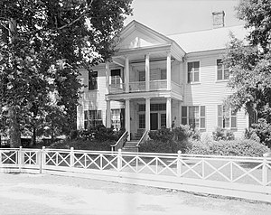 Claiborne, Alabama - The James Dellet House is the only original residence remaining in Claiborne.