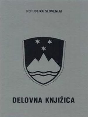 "Employment record book - ""Delovna knjižica"". Slovenia."
