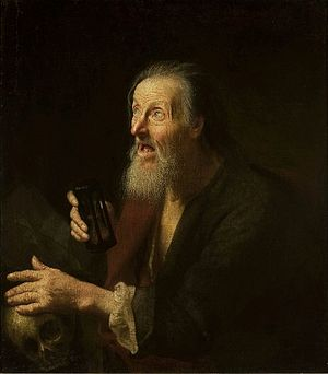 Balthasar Denner - Image: Denner Old man with an hourglass