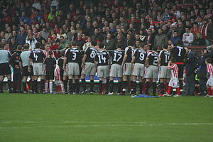 Derry City F.C. - The Derry City team lined up prior to the game with Sligo Rovers in the 2006 FAI Cup semi-final at the Sligo Showgrounds on 29 October