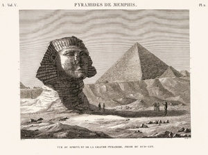 80th Regiment of Foot (Staffordshire Volunteers) - The Great Sphinx of Giza, early 19th century