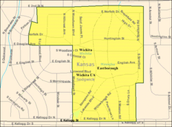 Detailed map of Eastborough, Kansas