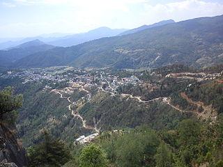Didihat Town in Uttarakhand, India